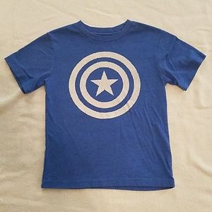 Kids Captain America t shirt